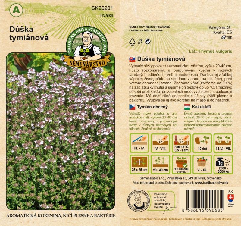 Tradičné osivá - Dúška tymiánová