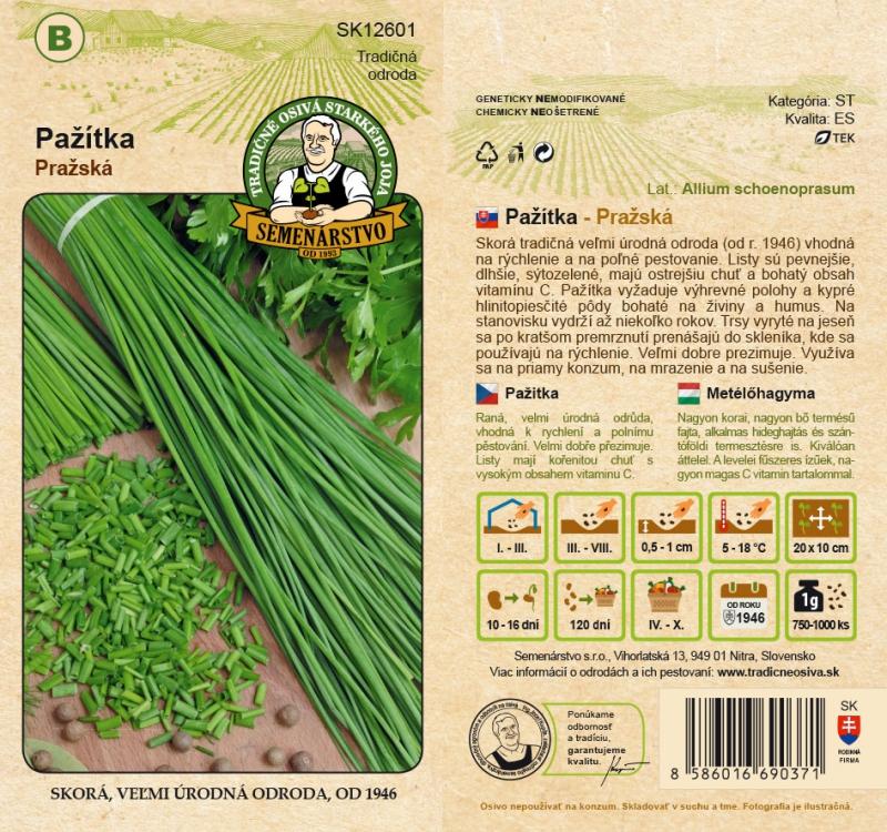 Tradičné osivá - Pažítka ´Pražská´
