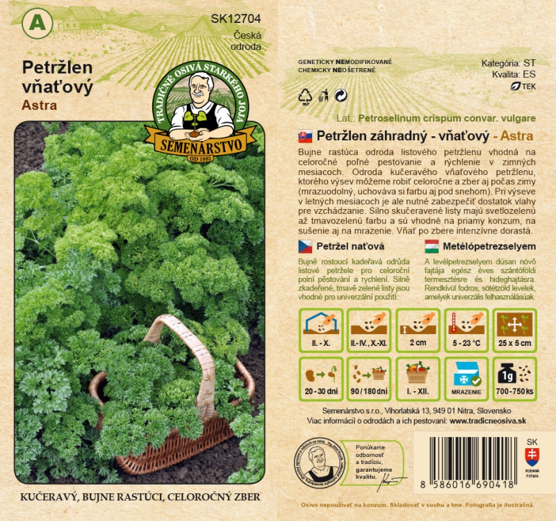 Tradičné osivá - Petržlen záhradný vňaťový ´Astra´